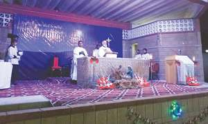 Midnight mass held in city to celebrate Christmas