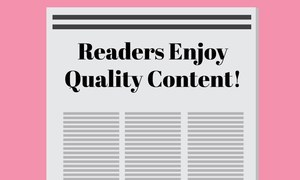 Readership is created. This year, we've done just that