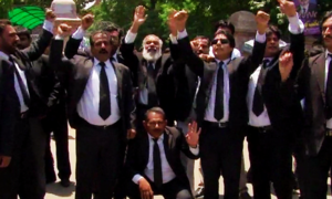 No end to lawyers' strike in Islamabad in sight