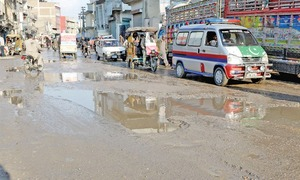 Road dug up for sewerage lines yet to be properly repaired