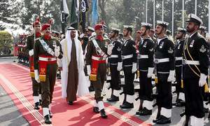 Pomp, pageantry and protocol: Visuals from UAE crown prince's brief visit to Islamabad