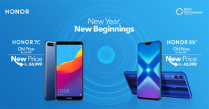 Honor slashes prices for its 7C and 8X devices as New Year's surprise