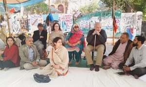 Civil society protests against demolition of shops