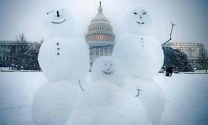 واشنگٹن سے جرمنی تک برف کی سفید چادر