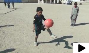 ضلع دکی سے تعلق رکھنے والا 7 سالہ ننھا فٹبالر احسان اللہ