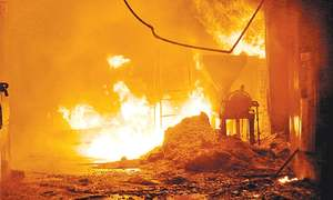 Fire destroys two factories in Hyderabad