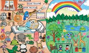 Children's art show depicts effects of climate change