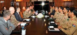 Centcom chief, Bajwa discuss security, Afghan peace process