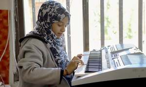 In wartime Yemen, children find solace in music