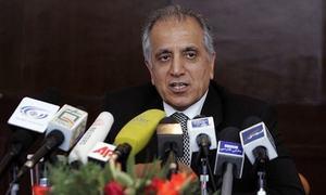 US envoy Khalilzad briefs Afghan President Ghani on talks with Taliban