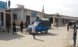 8 police staff, one civilian martyred in Balochistan suicide and gun attack