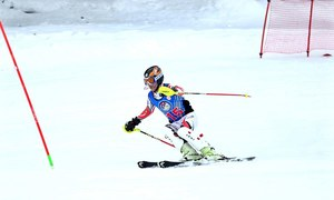 Ukrainians lead second day of ski cup contest in Naltar