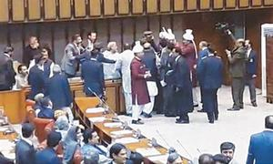 Opposition stages walkout from Senate to protest govt bid to run affairs through ordinances
