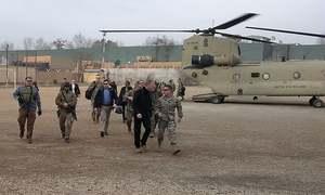Acting Pentagon chief Patrick Shanahan arrives in Afghanistan