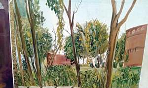 Live landscape painting contest