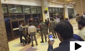 کراچی میں مشکوک موٹرسائیکل سوار ایئرپورٹ کے لاؤنج تک پہنچ گیا