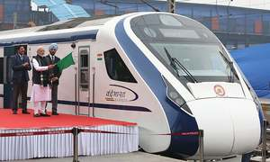 India's newly launched fast train hits cattle hurdle