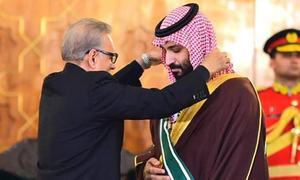 سعودی ولی عہد محمد بن سلمان کیلئے پاکستان کا سب سے بڑا سول اعزاز