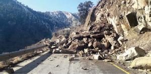 Landslides block Mansehra road