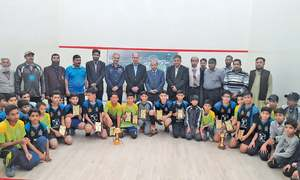 Huzaifa claims inter-school squash title