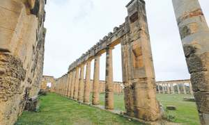 Libya's ancient ruins blighted by theft, shunned by tourists