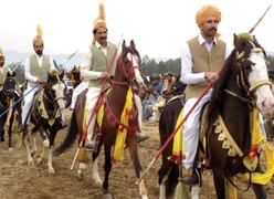 Tent pegging contest held