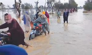 Flooding after downpour cuts off four UCs from rest of Dadu district