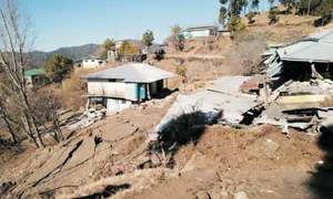 Families rendered homeless by landslides