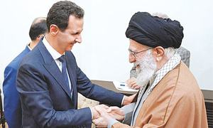 Assad visits Tehran, meets Iran's supreme leader