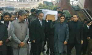 Body of Pakistani prisoner killed in Indian jail handed over by BSF at Wagah