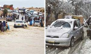 Heavy rains, snowfall in Balochistan leave six dead, dozens injured