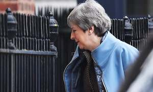 British PM May seeks Brexit delay after third vote on her deal is stymied