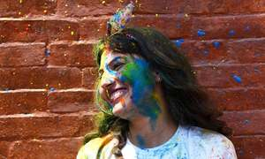 In pictures: Everything turns technicolour as revellers across Asia celebrate Holi