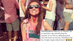 Anoushey Ashraf plays holi on Pakistan Day to send a powerful message about acceptance