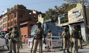 Shutdown in occupied Kashmir against India's ban on Jammu and Kashmir Liberation Front