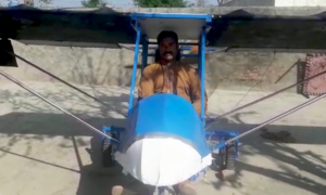 پاکپتن: چھوٹا جہاز بنانے والے نوجوان کے خلاف مقدمہ درج