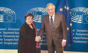 Shireen urges EU to use its influence to end violations in IHK