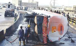 NICVD unit, two warehouses, six vehicles destroyed in oil tanker fire