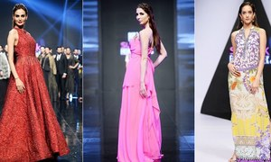 فیشن ویک کے اختتامی دن رنگ برنگی ملبوسات پیش
