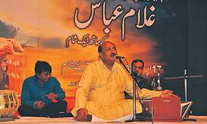 Ghulam Abbas' singing transports audience to his heyday