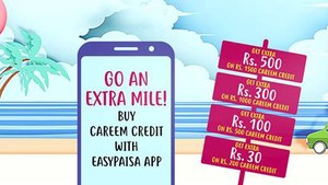 Easypaisa partners with Careem to offer extra credit on Careem Wallet top-ups