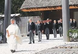 Emperor Akihito performs ritual to 'report abdication' to Shinto gods