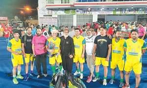 Qamar brace seals Pakistan Veterans Yellows hockey title