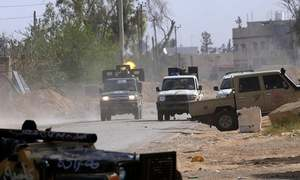 Air strikes and explosions hit Libyan capital