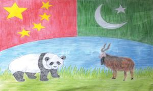 Students depict strong Pakistan, China ties through posters