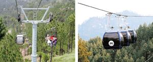 Patriata chairlift a major attraction for tourists