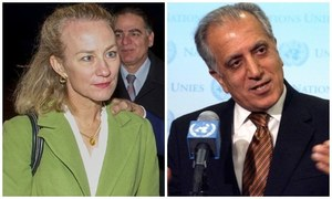 Khalilzad, Wells due today for talks on Afghan peace efforts
