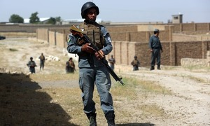 Taliban suicide bomber leads attack on police HQ in Afghanistan