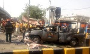5 policemen martyred in explosion targeting Elite Force vehicle near Lahore's Data Darbar