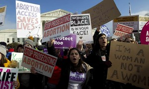 Women around the world unite against US abortion bill